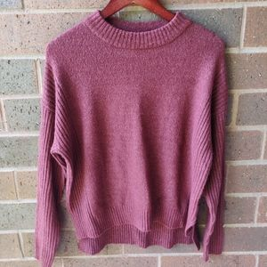 Cozy Red Thick Sweater